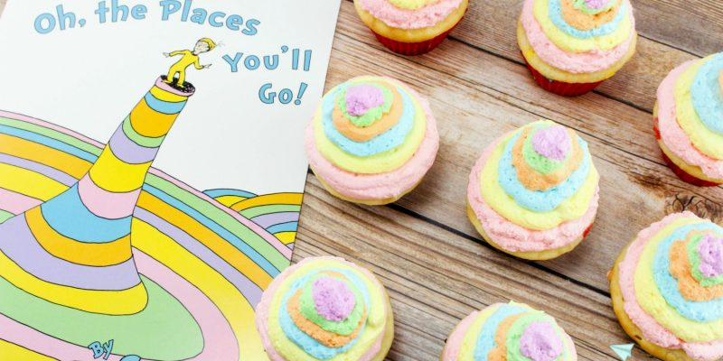 Oh-the Places You'll Go Cupcakes