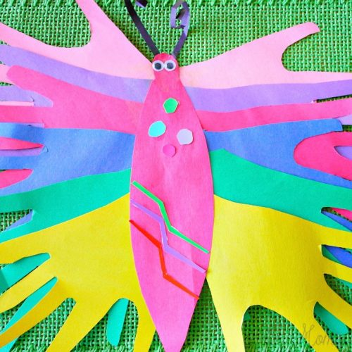 Paper Handprint Butterfly Craft