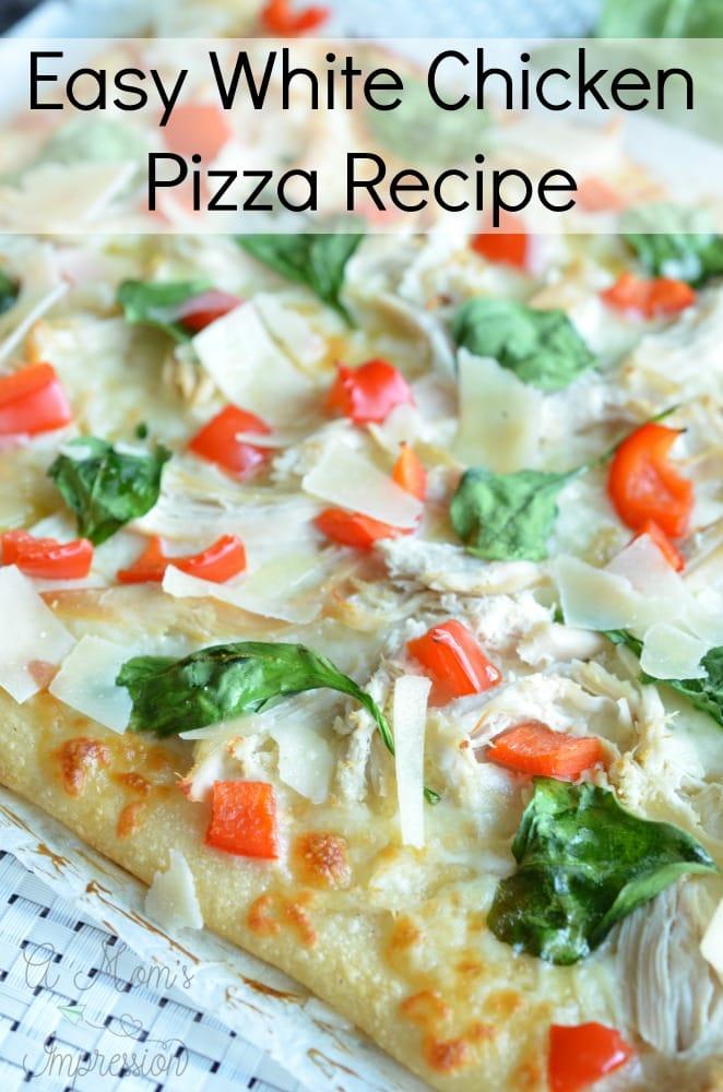 white chicken pizza recipe