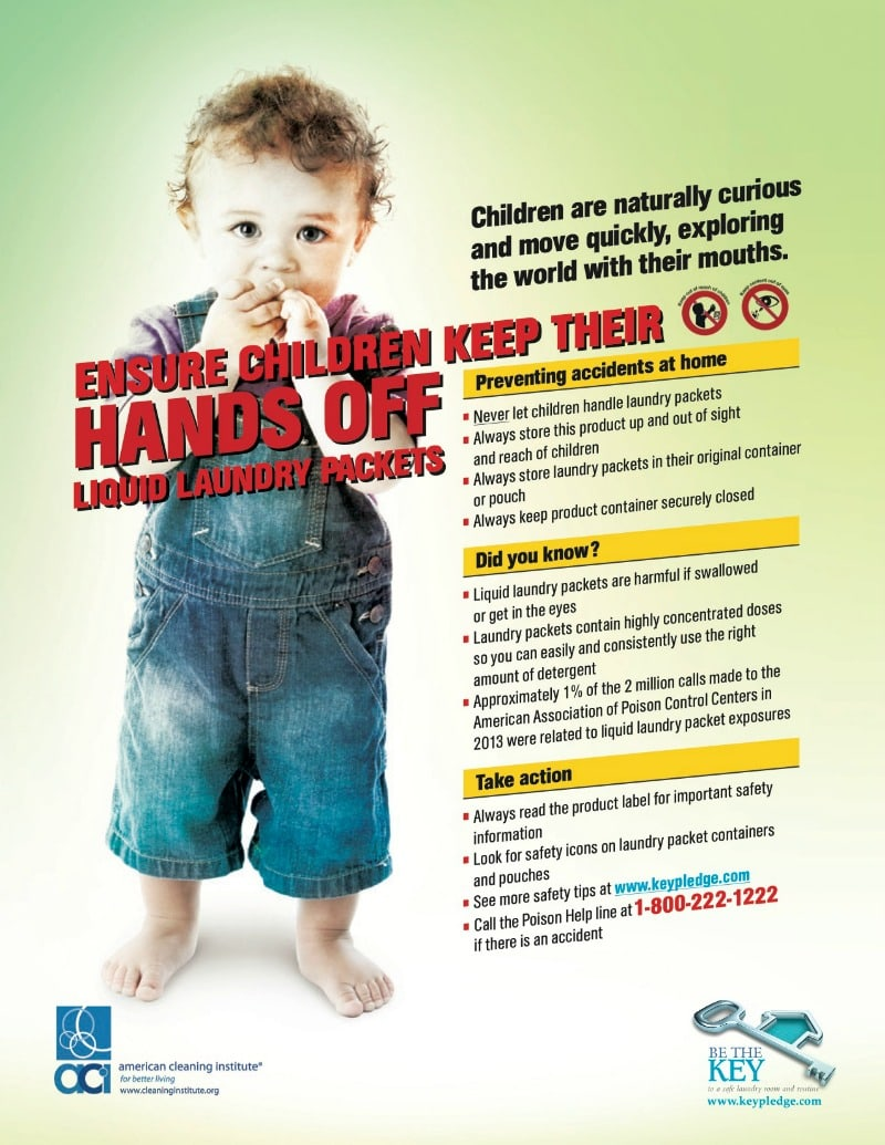 Kids and Home Safety - Liquid Laundry Packet Safety Tips