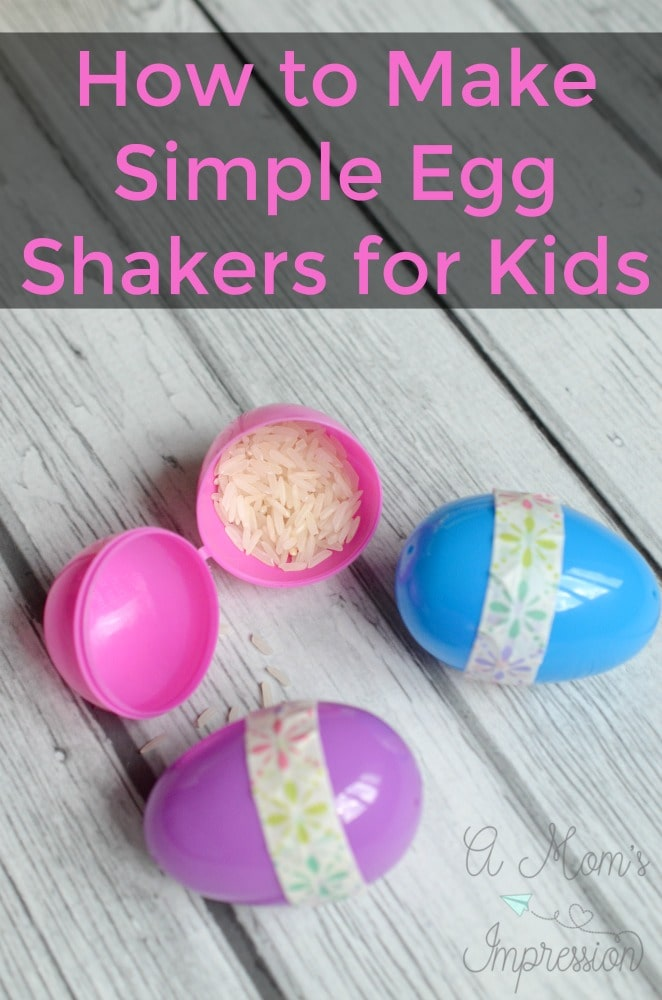 These egg shakers activities are great for preschool kids and they're a super simple DIY that can provide fun for kids for hours! #ad #KidsCrafts