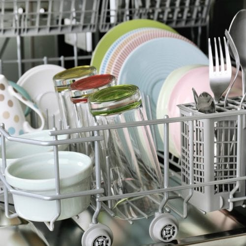 clean smelly dishwasher
