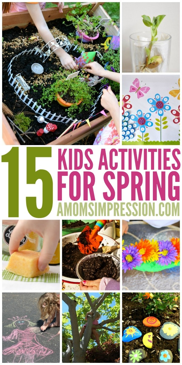 Looking for some fun spring activities for kids? These activities are great for preschool kids and more. You'll find everything from lemon DIY bath bombs to rock painting!