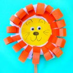 Adorable Paper Plate March Lion and Lamb Craft