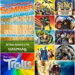 Cinemark $1 Movies – Summer Movie Clubhouse