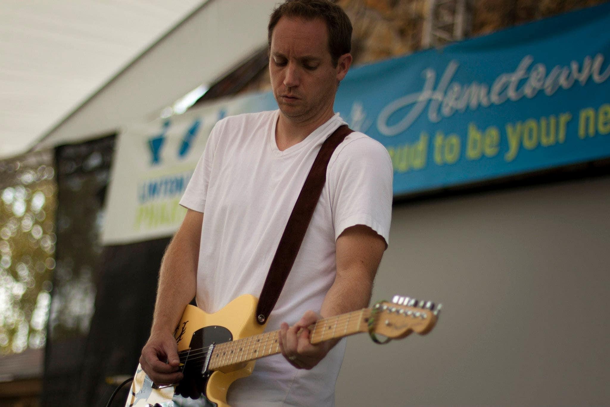 Joe playing guitar