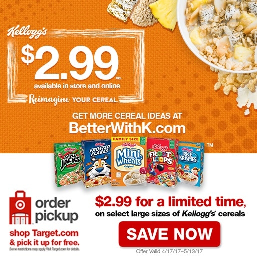 Kellogg Cereal deal