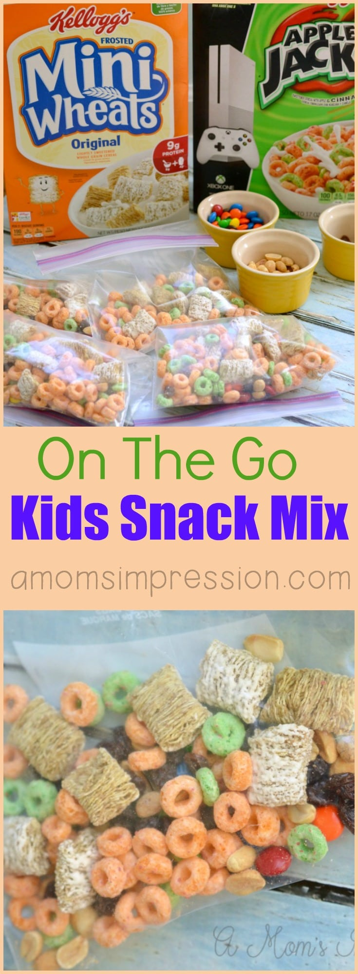 Running out of ideas for snacks for kids? Fast snack recipes are perfect for the on-the-go family and this kids snack mix is divine! #ad
