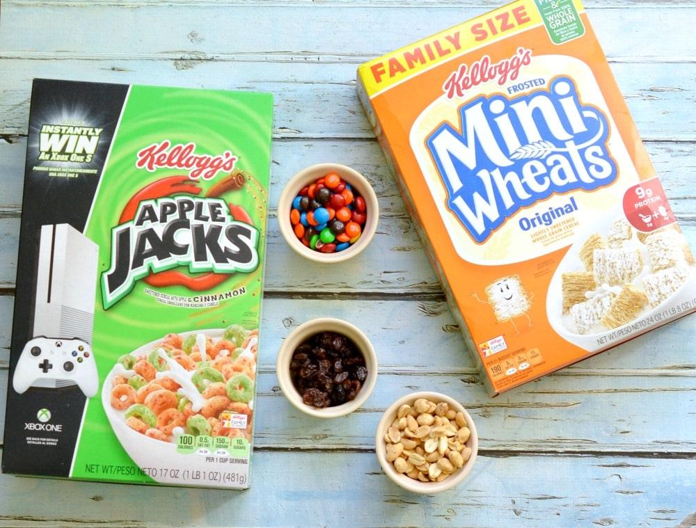 Kids Snack Mix Recipe Ingredients