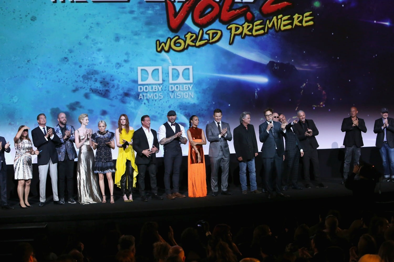 The Cast of GOTG VOL 2