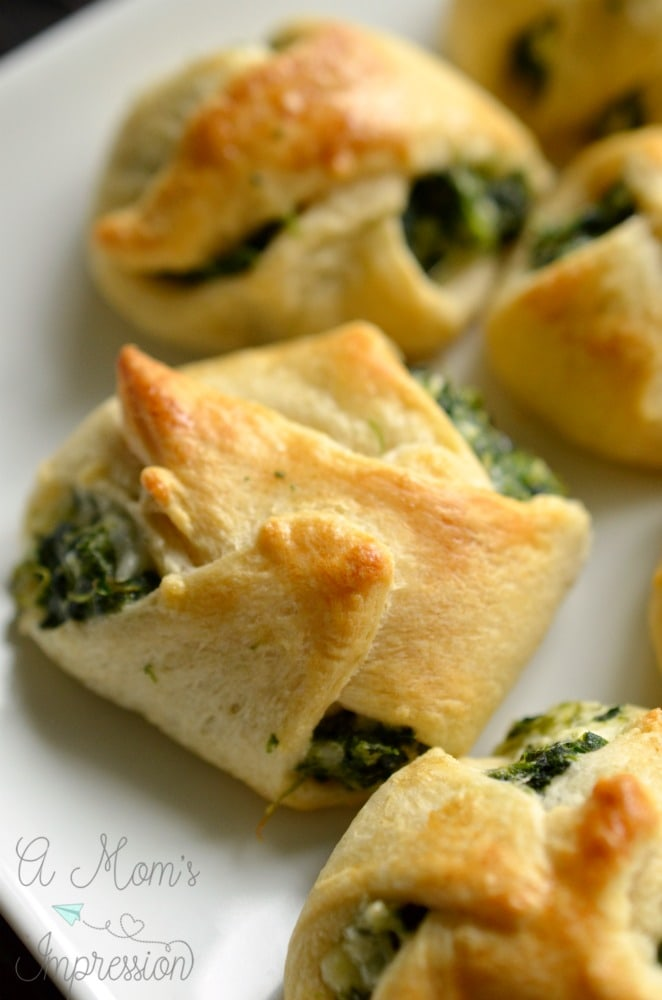 spinach crescent rolls
