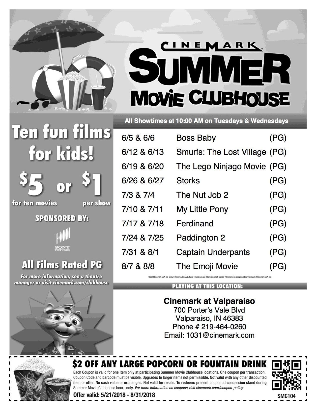 2018 Cinemark Summer Movies