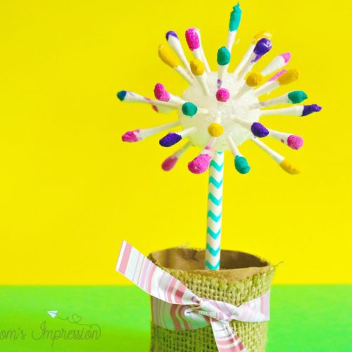 Easy Flower Crafts for Kids – Adorable Q-Tip Flower