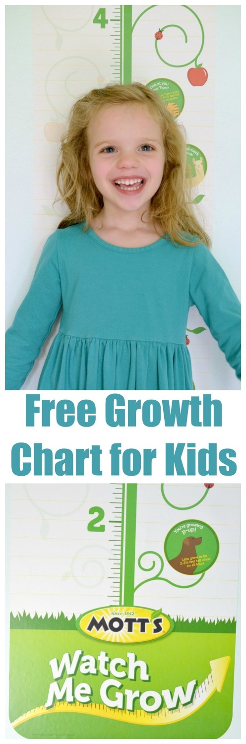 Free Growth Chart for kids