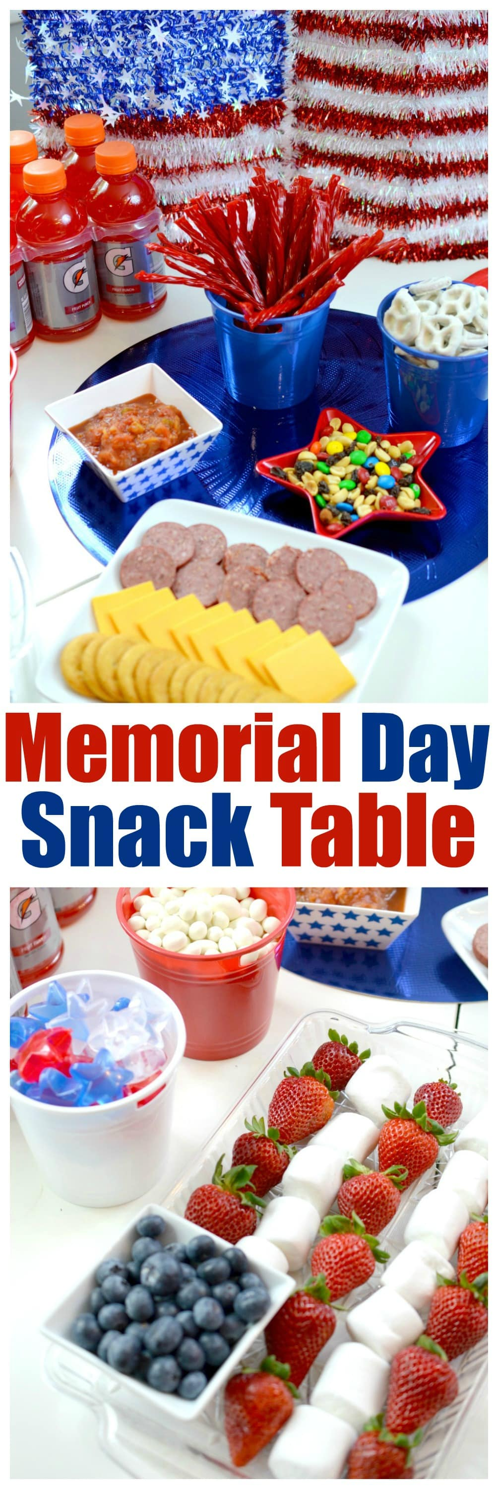 Memorial Day Snack Table