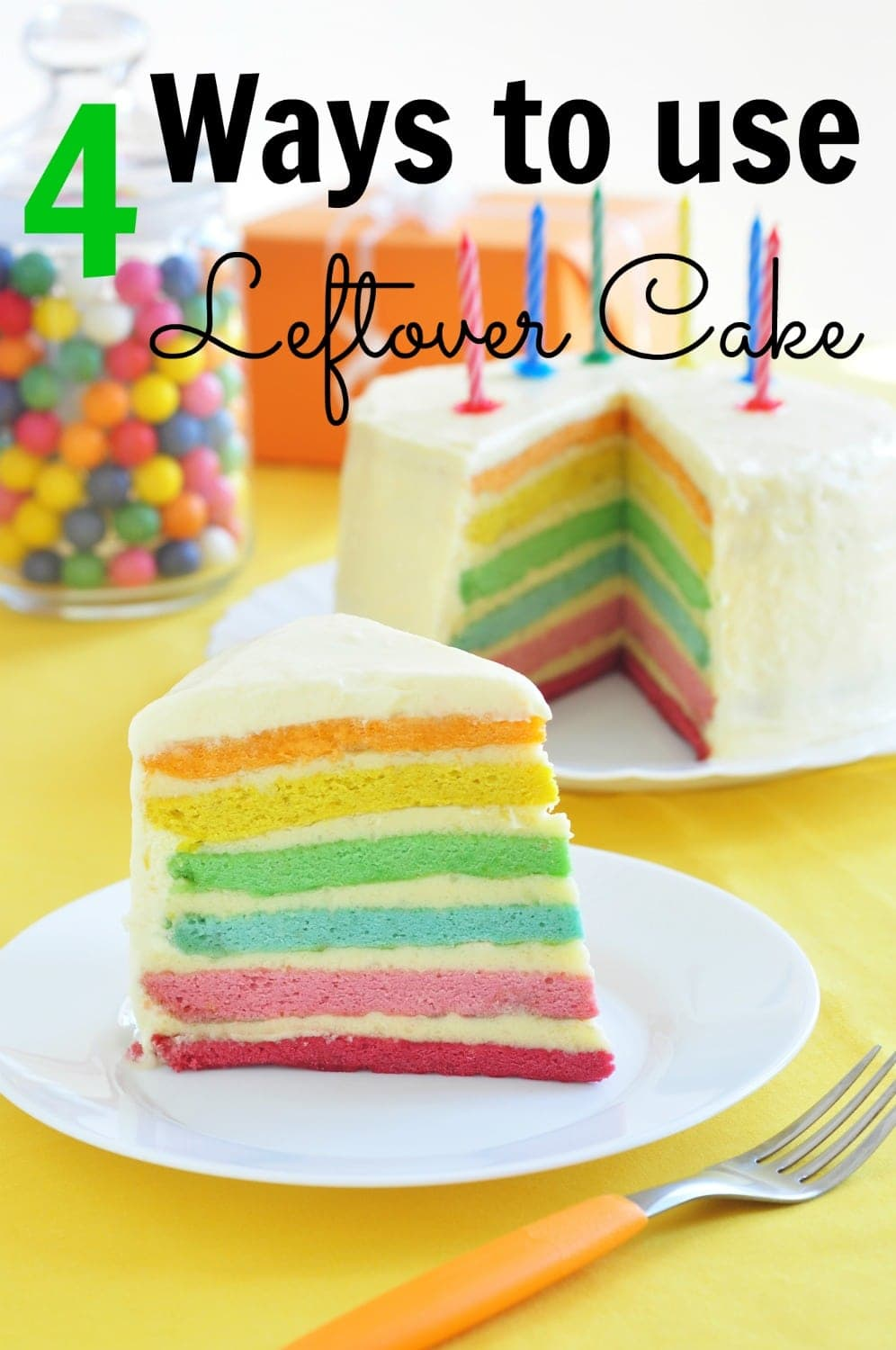4 Ways to use Leftover Cake, these creative and simple ideas will turn your leftover birthday cake into delicious new desserts in no time!