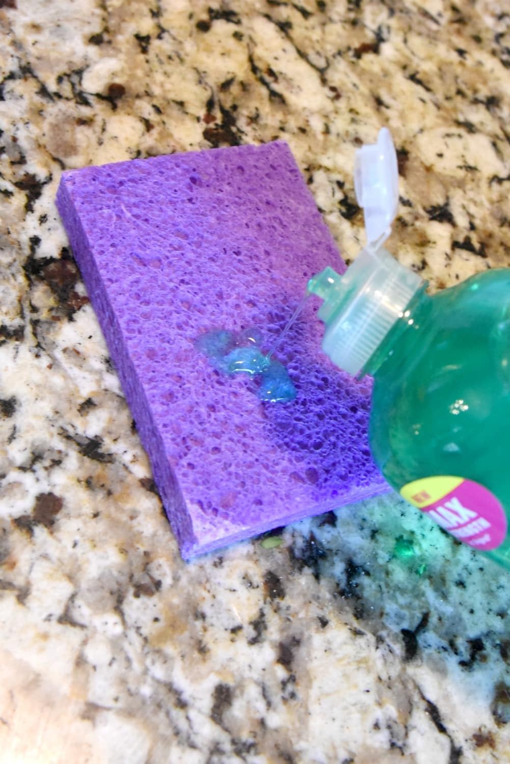 cleaning with sponges