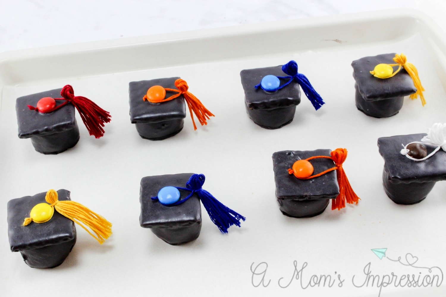 graduation cap candy treats