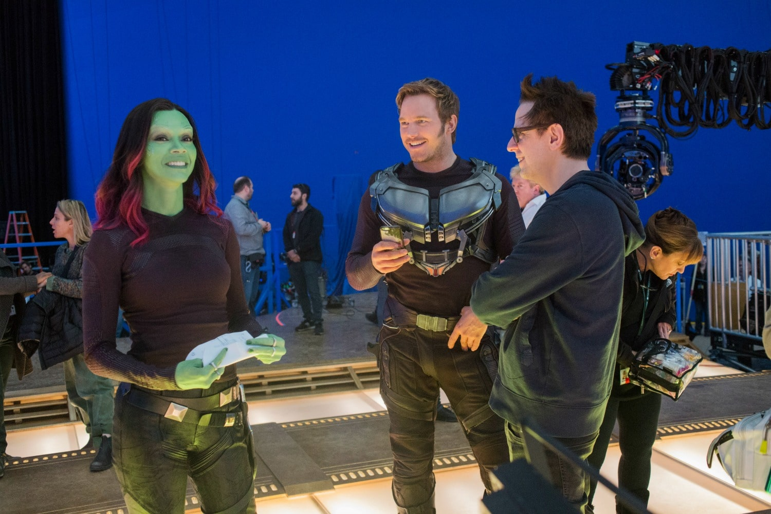 zoe chris and james behind the scenes