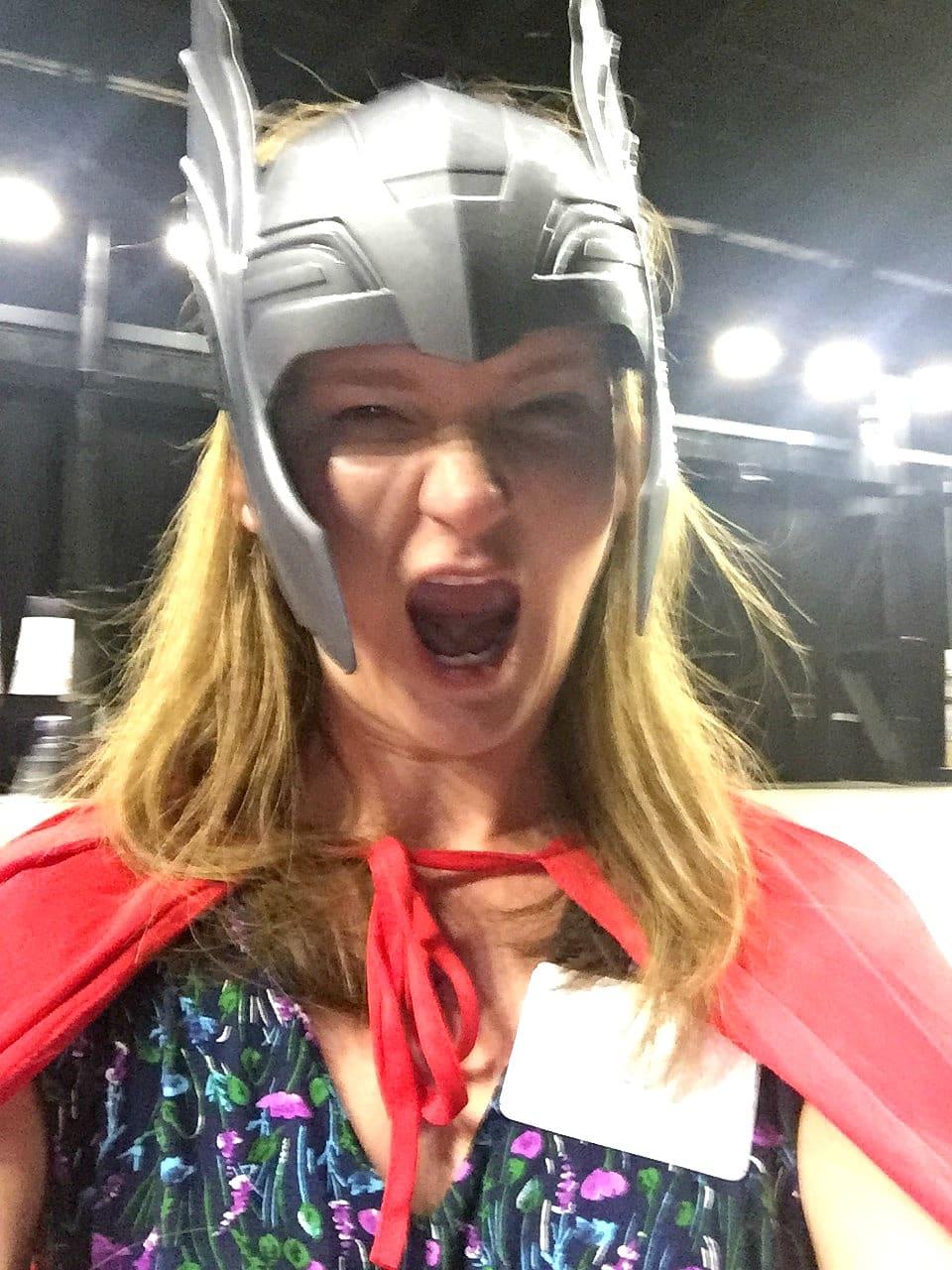 Kathy as Thor