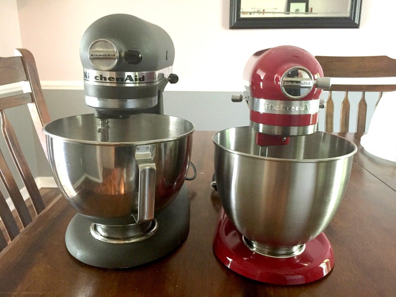 Kitchen Aid Mixer Size Comparison