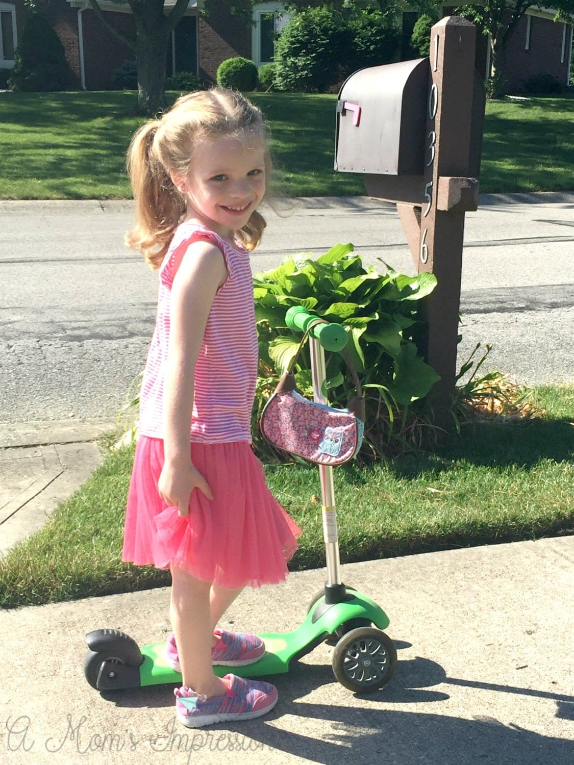 Riding a scooter