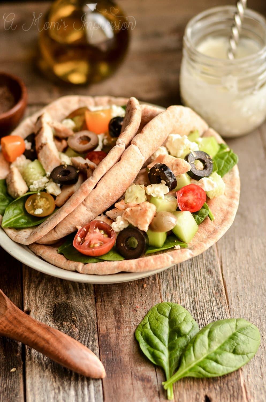 Grilled Greek Chicken Pita