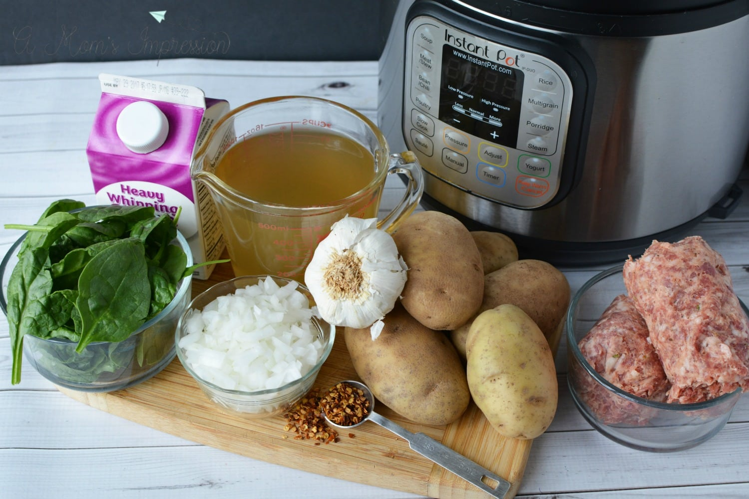 With different ingredients from spinach and garlic to potatoes, you may need different instant pot sizes.