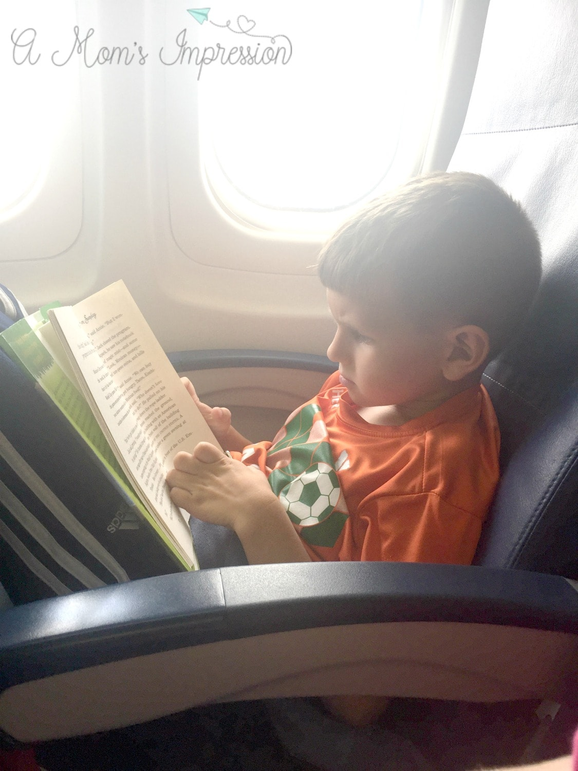 Reading on a plane