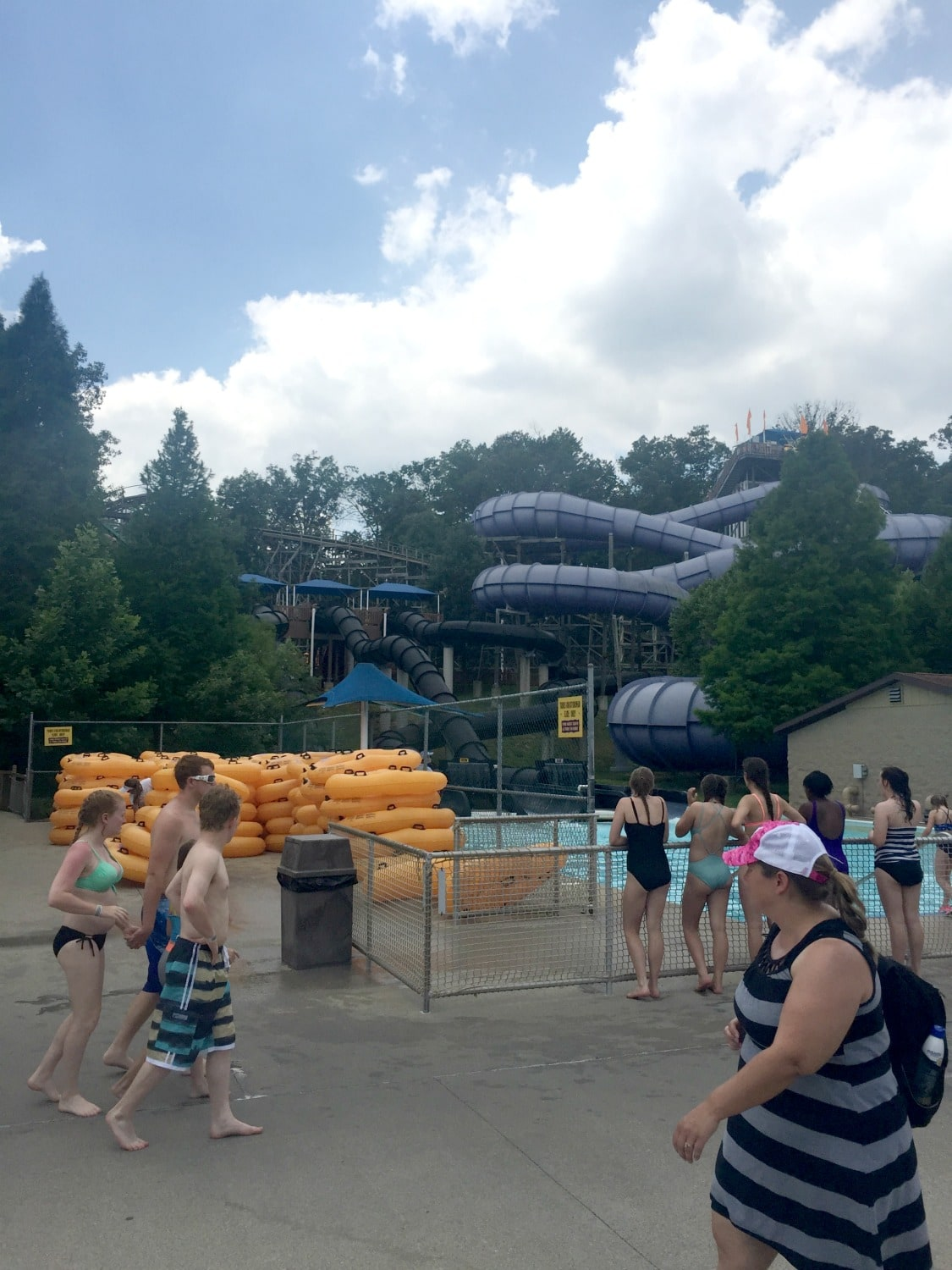 Water Slides at Splashin Safari