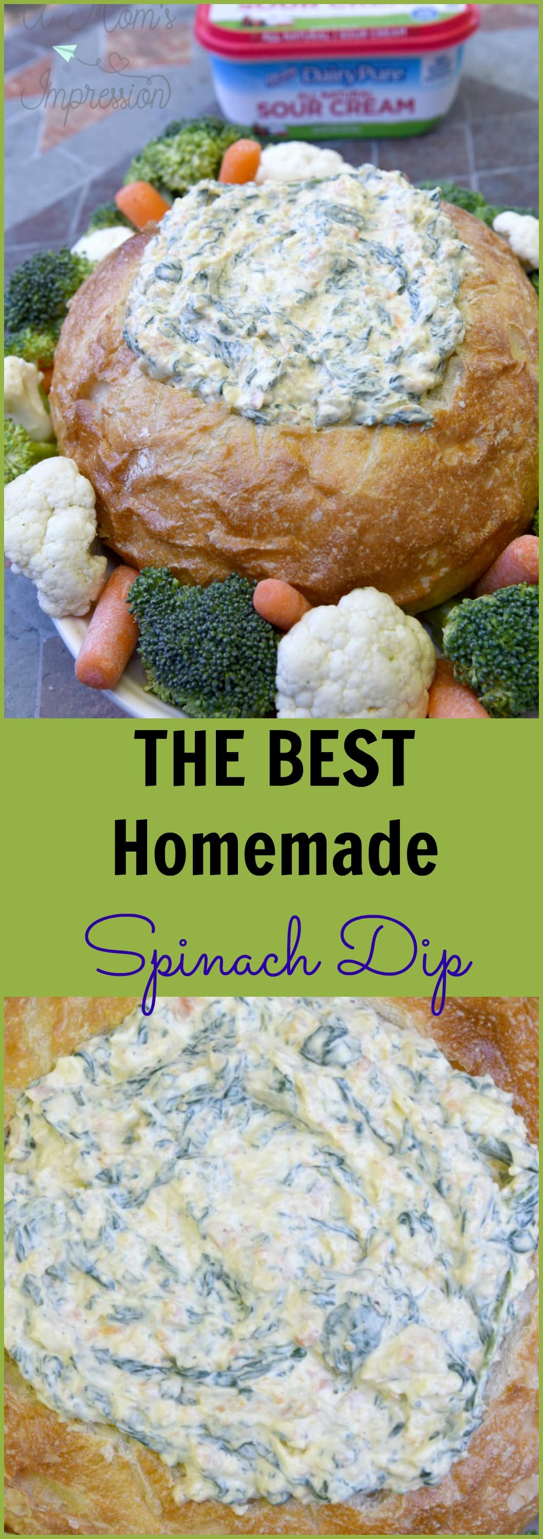 Check out this tasty and easy DIY spinach dip recipe for entertaining all year long! This dip is so tasty, you'll want it for birthday parties, game days, and holidays! #AD