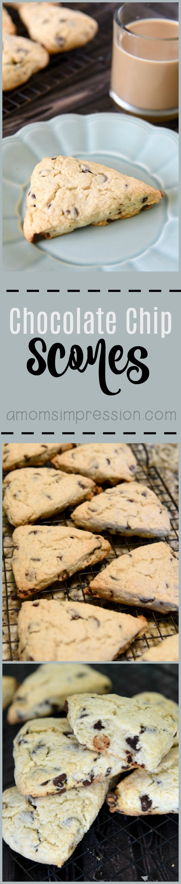 This easy Chocolate Chip Scone Recipe is simple and can be made in under 30 minutes. The scones are crispy on the outside and nice and fluffy on the inside.