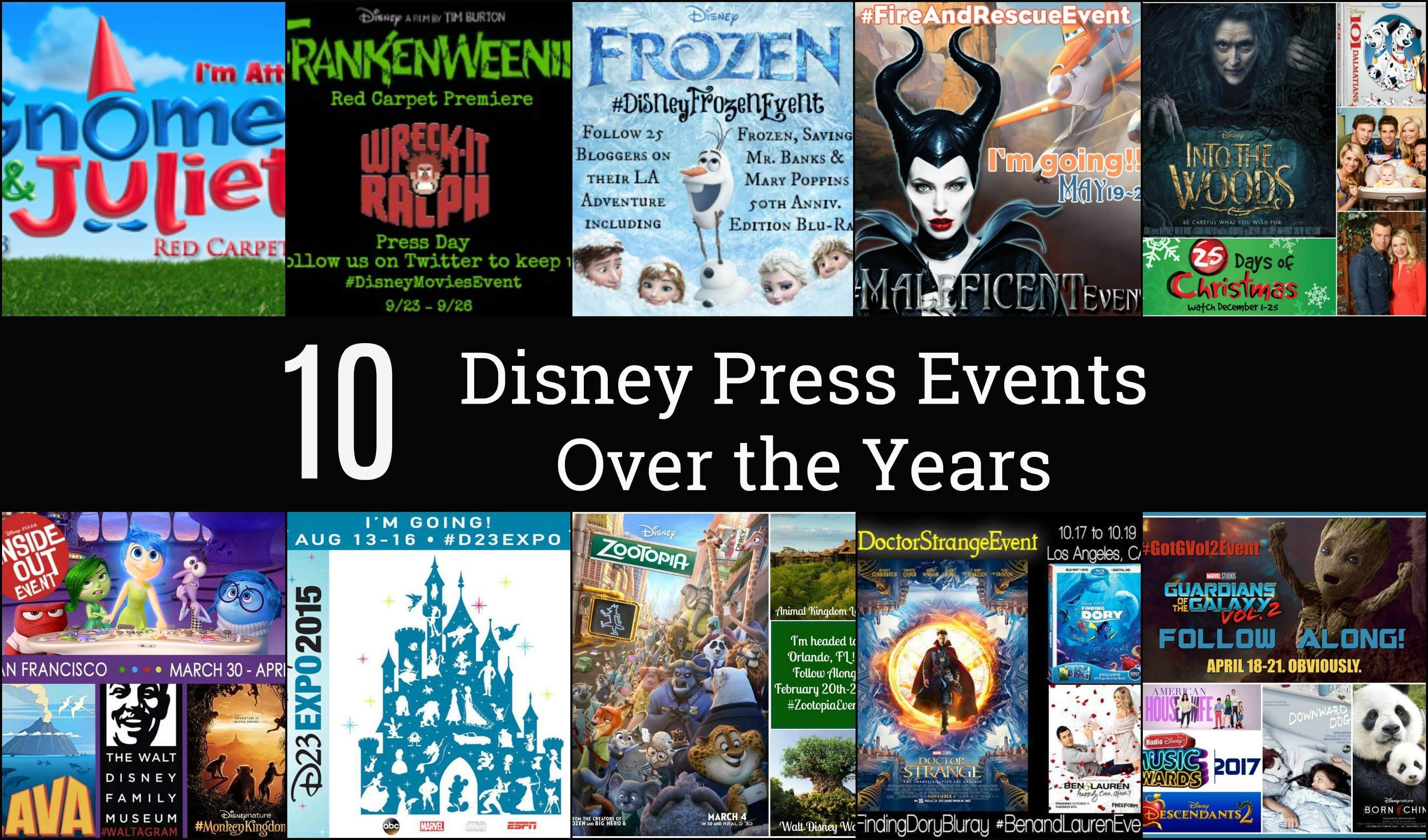 10 Disney Press Events