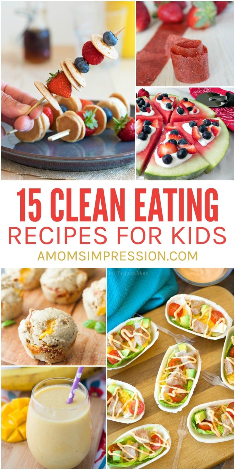 Clean Eating Recipes for Kids can be hard to find, but I gathered 15 of the best recipes that your family is going to love. My kids and I love #17 and eat it about once a week!