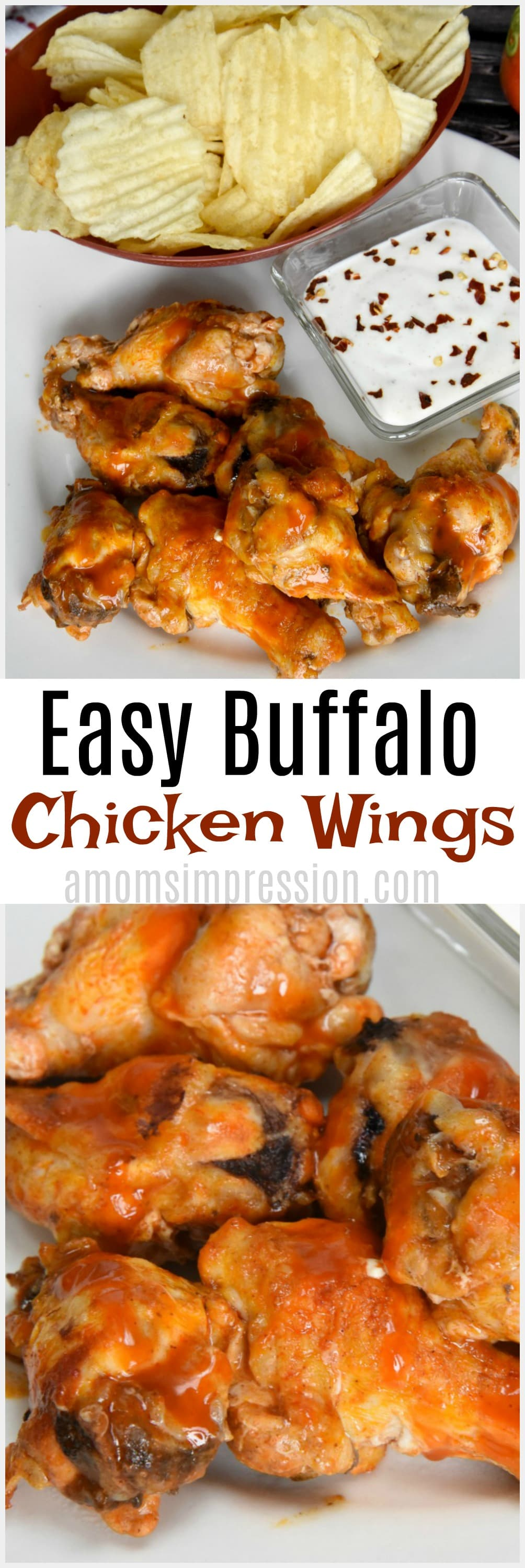 Make amazing buffalo chicken wings in the oven with this easy recipe. Included is a baked method and a grill method. Simple yet delicious!