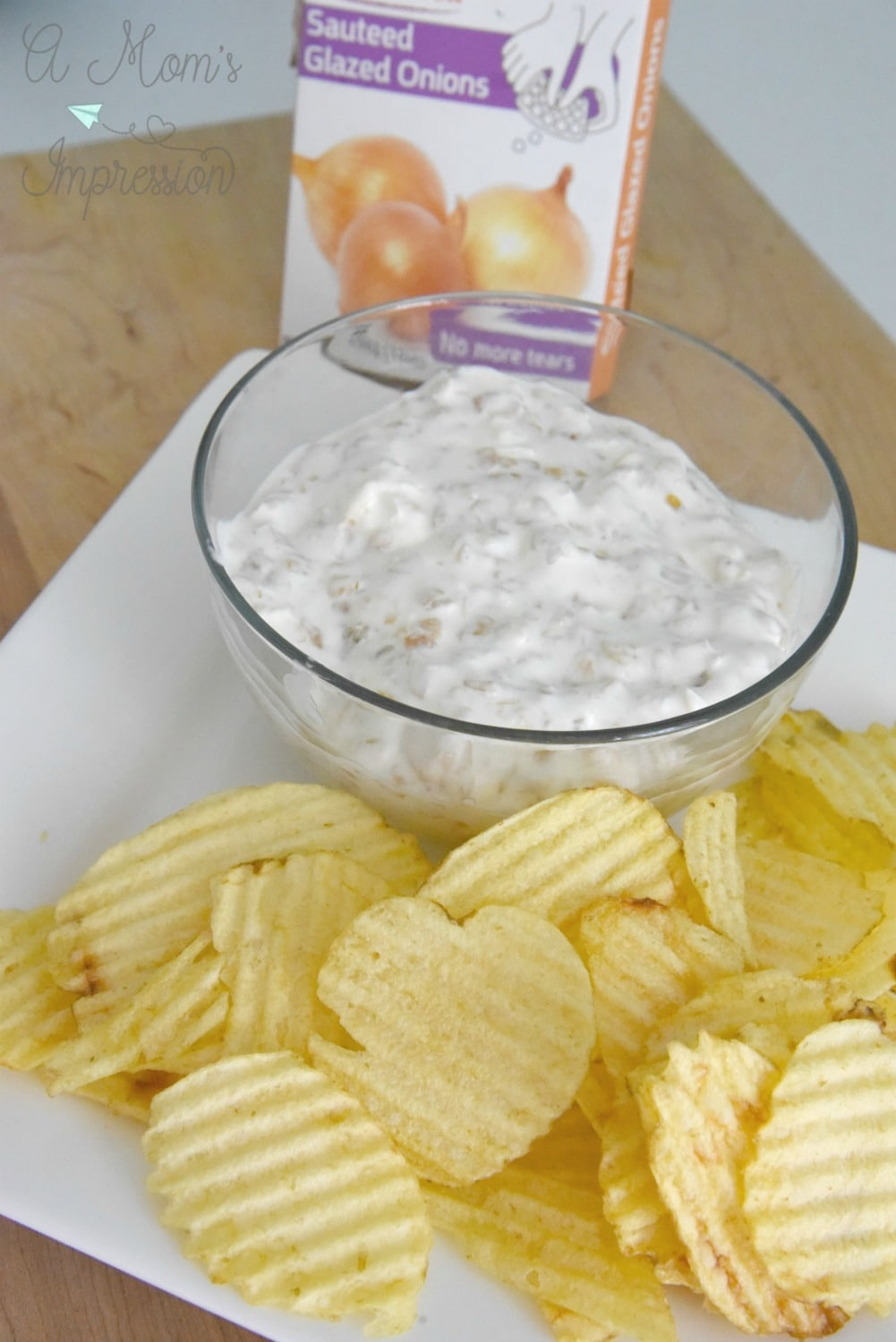 Homemade chips and dip