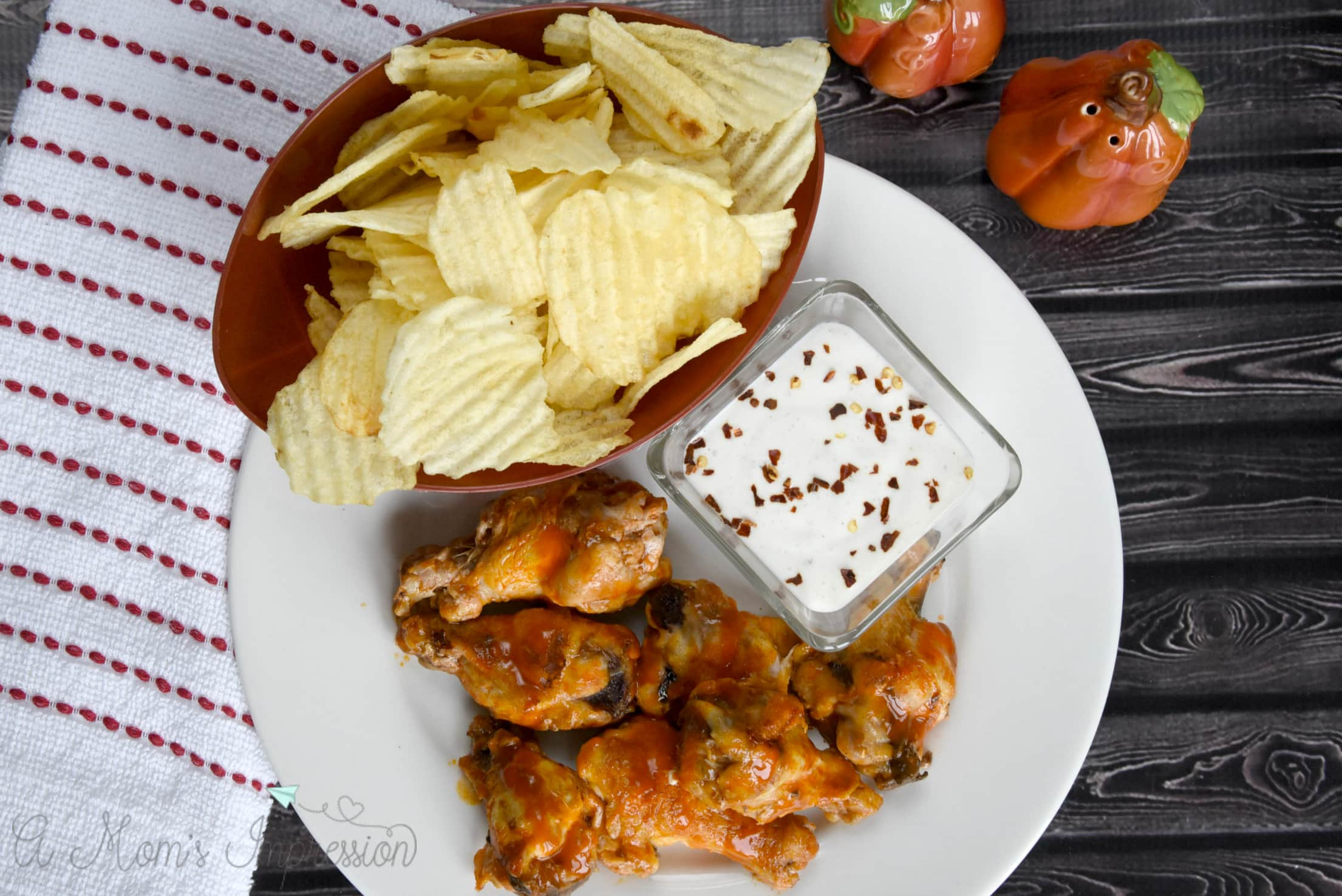 simple grilled buffalo wings