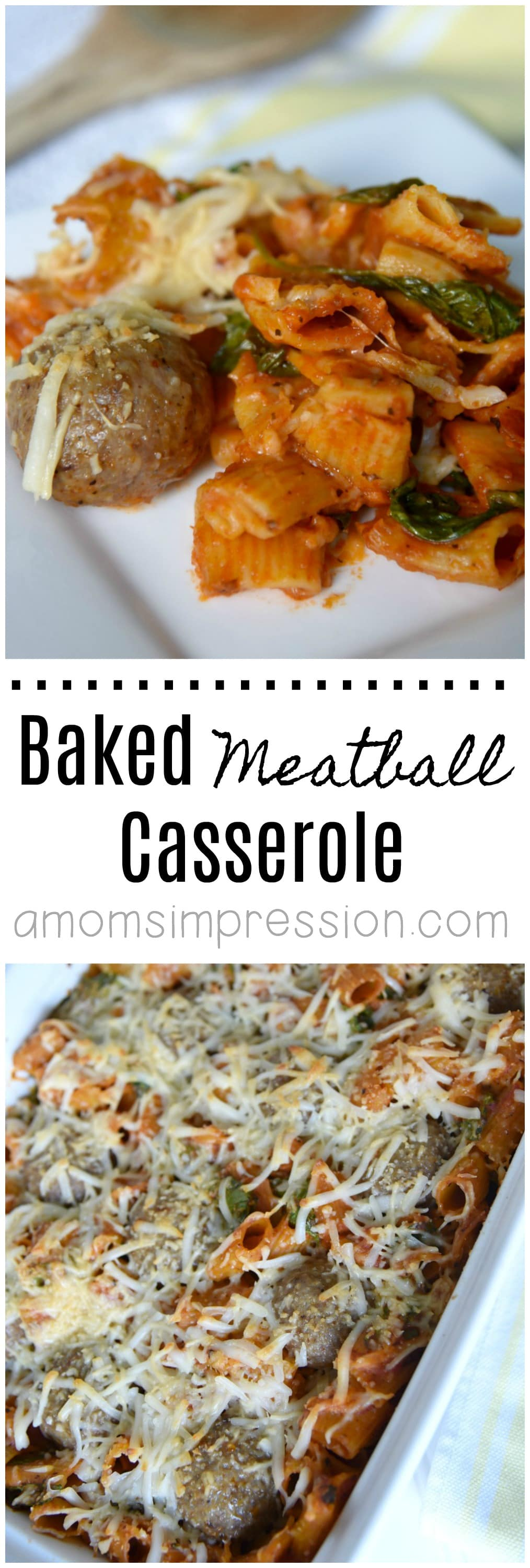 I'm always looking for an alternative to the classic spaghetti and meatballs, this easy baked meatball casserole is perfect! This is a recipe you will be making over and over again.