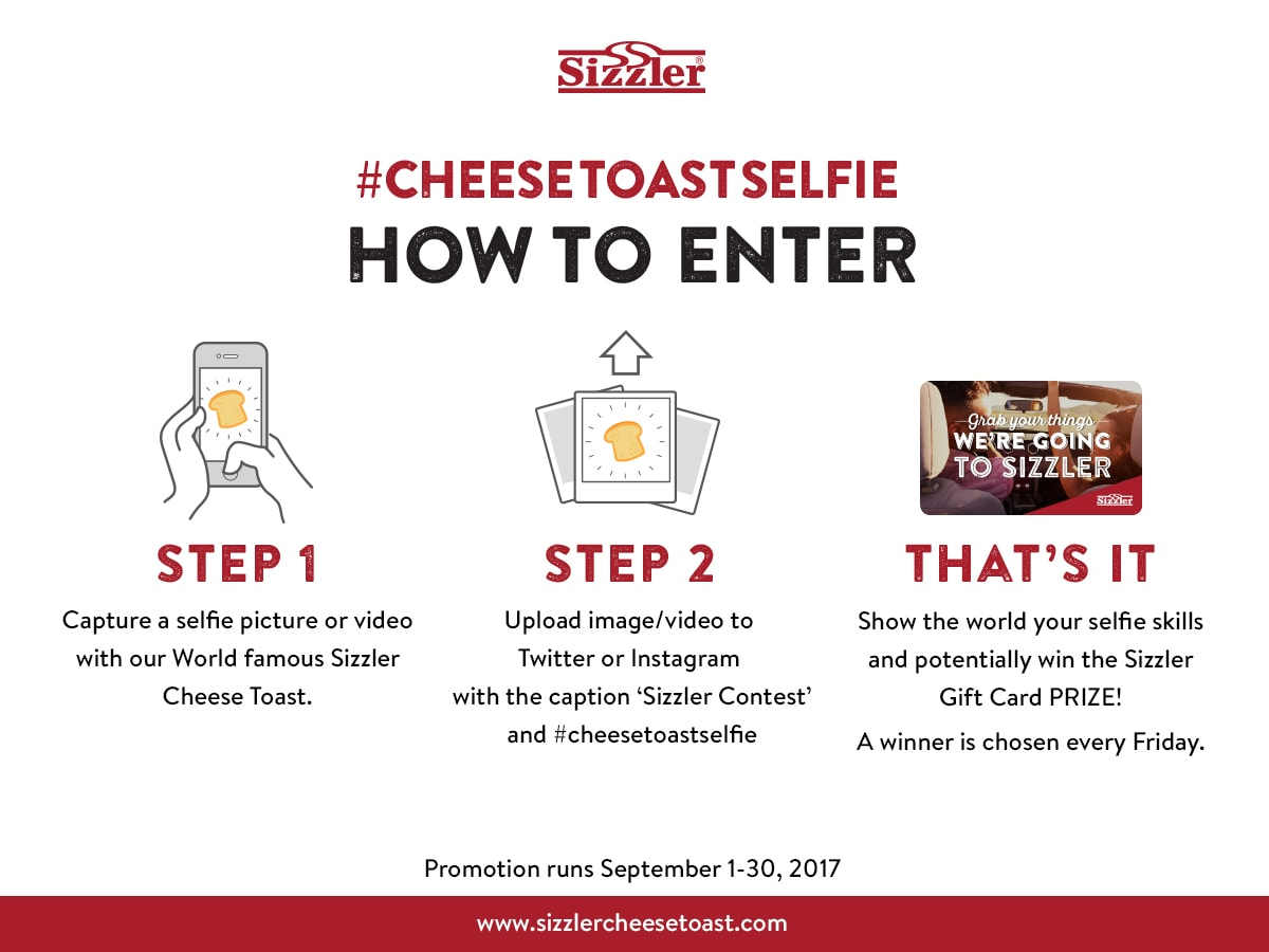 Cheese toast selfie contest