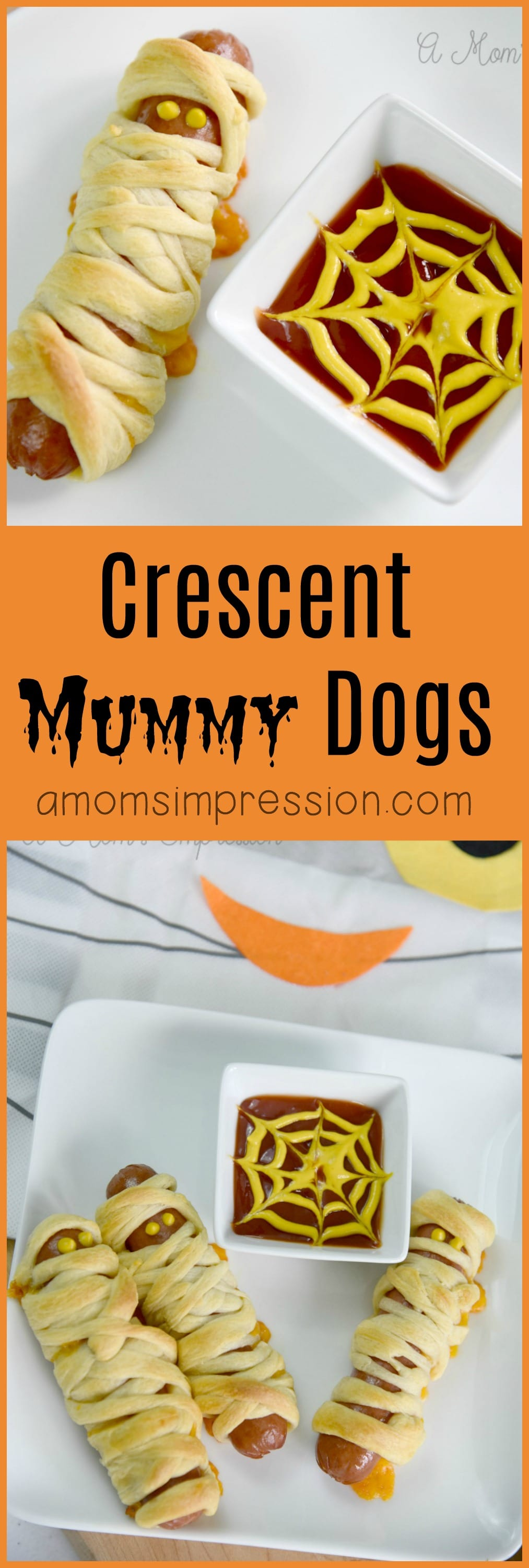 Crescent Mummy Dogs aren't just for the kids! This fun Halloween recipe idea is perfect for dinner or as an appetizer at your next spooky party! Easy to follow video recipe directions.
