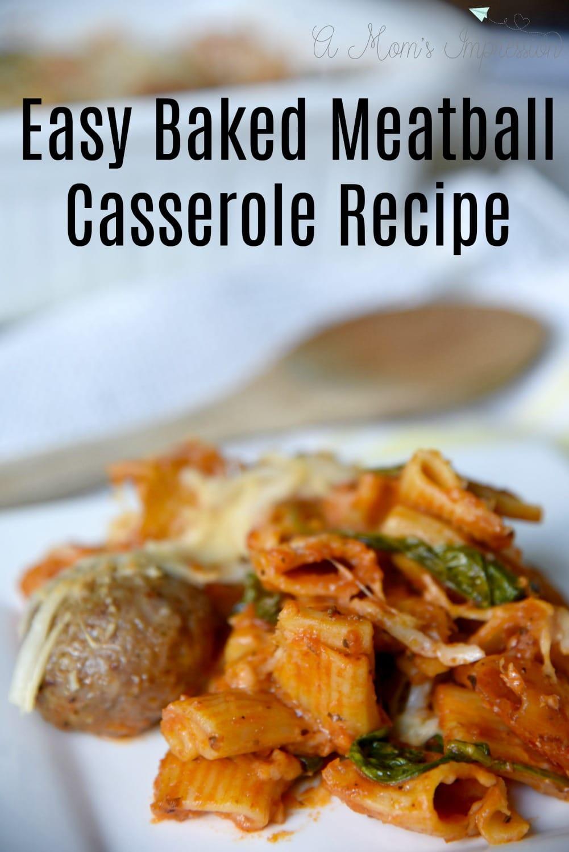 Easy Baked Meatball Casserole Recipe