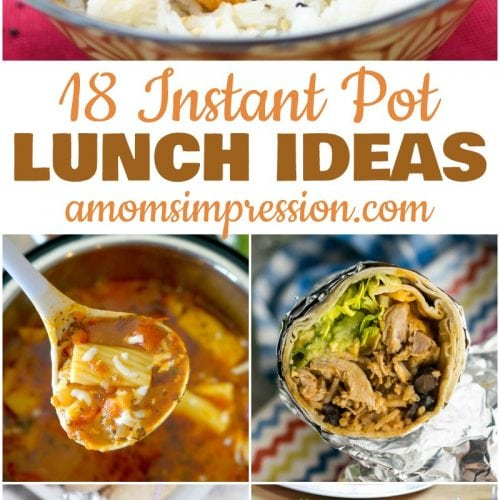 Instant Pot Lunch recipes