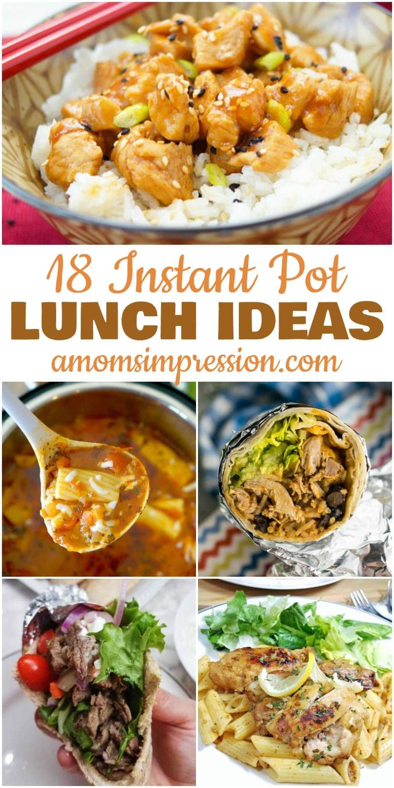 These Instant Pot Recipes are easy to make for your healthy family. These ideas go beyond Mac and Cheese and include delicious chicken options your family will love. My kids and I make #13 at least twice a month!