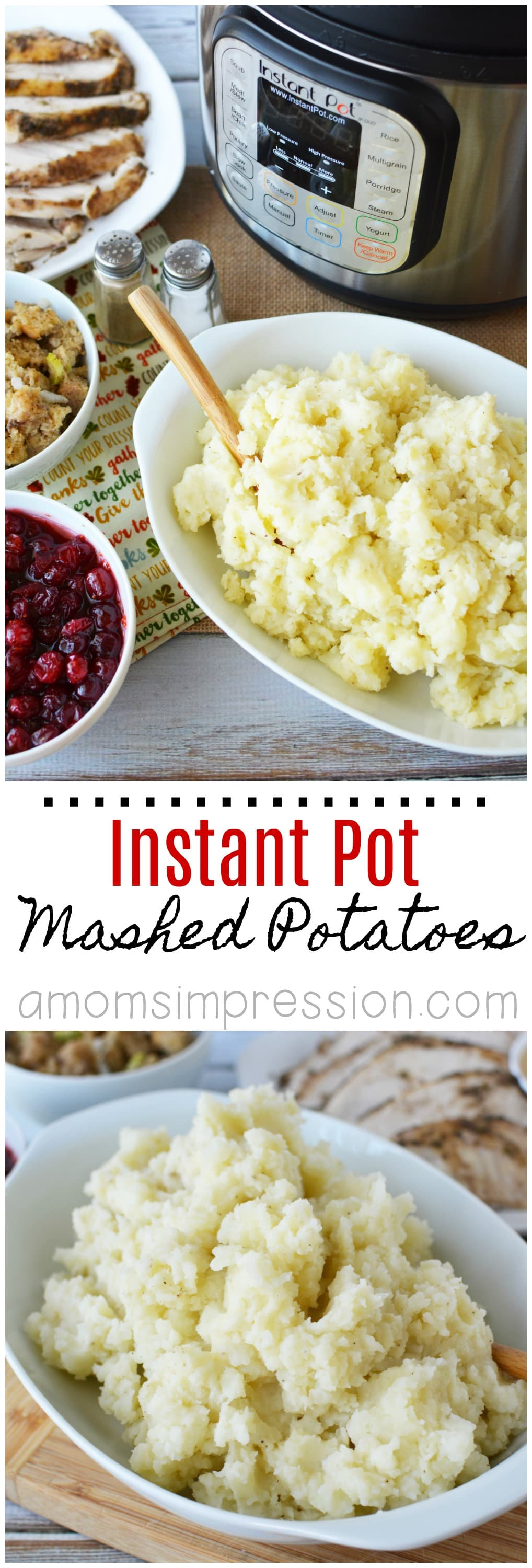 Instant Pot Mashed Potatoes made easy in an electric pressure cooker. Make the most delicious mashed potatoes in 15 minutes with this simple recipe. You will never make mashed potatoes the old fashioned way again.