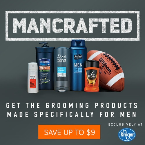 Men's grooming products coupon