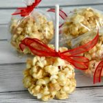 Peanut butter popcorn ball