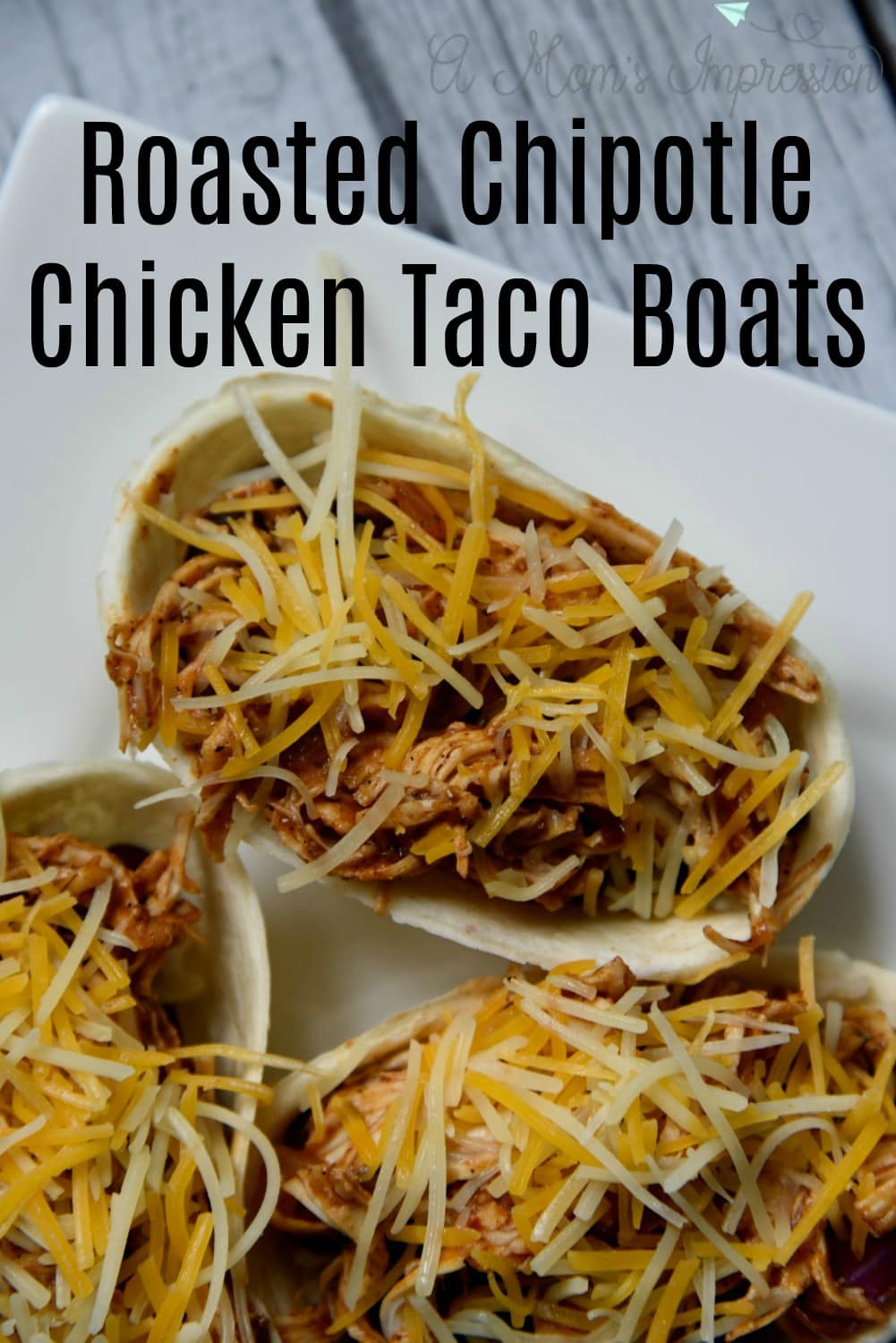 Easy Roasted Chipotle Chicken Taco Boats Recipe