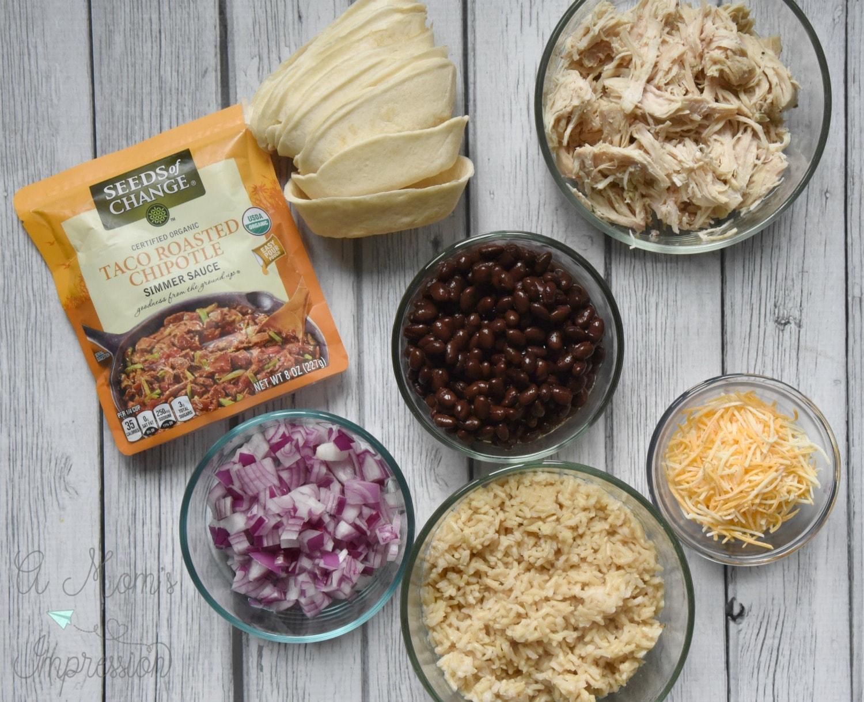 Taco boat ingredients