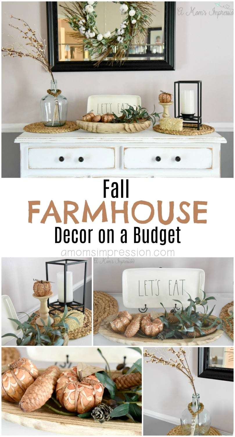 Get that farmhouse decor look, like Joanna Gaines, but on a budget. These rustic finds are perfect for the fall season and are perfect for any room of the house. My kitchen buffet never looked better, be sure to check out this DIY project.