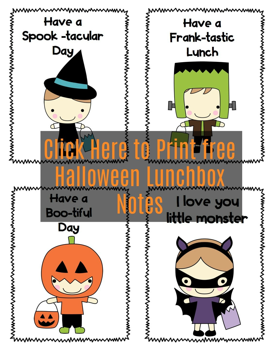 Free Halloween Lunch Notes